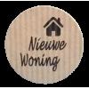 K103 rol @ 500 permanent rond 35 kraft zwart bedrukt nieuwe woning