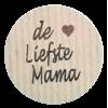 K113 rol @ 500 permanent rond 35 kraft zwart bedrukt de liefste mama